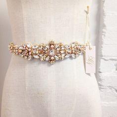 Rose goud en Blush Crystal Bridal gordel  SWAROVSKI-Gold