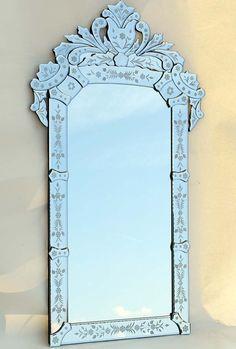 EXKLUSIVER WANDSPIEGEL VENEZ. MURANO STIL SPIEGEL LUXUS - bathroom mirror