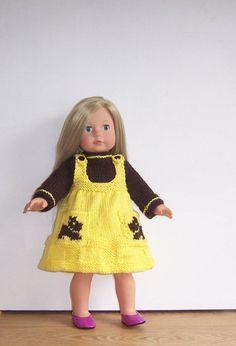 PDF knitting pattern for 18 doll American by VintageKnitnaks