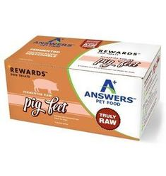 Answer's Pet Food Answers Rewards | Fermented Raw Pig Feet Halves for Dogs 4 ct single (*Frozen Products for Local Delivery or In-Store Pickup Only. *) Raw Pet Food, Natural Pet Food, Natural Dog Treats, Raw Chicken, Organic Chicken, Modern Quotes, Gum Health, Freeze Drying, Cat Treats