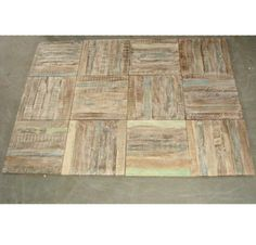 Reclaimed wood tiles with layers of distressed paint - a charming choice for your floor, wall or any other surface you can imagine! At MIX @ 331 S La Brea Ave!