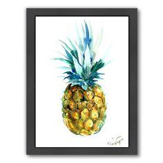 Framed Pineapple Painting Print Wall Art - GoGetGlam
