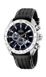 Festina Men's Chrono Single Alarm F16489/3 Black Leather Quartz Watch with Black Dial Festina. Save 20 Off!. $167.00. Mineral Crystal. 100 Meters / 330 Feet / 10 ATM Water Resistant. 46mm Case Diameter. Quartz Movement. Chrono Single Alarm Collection