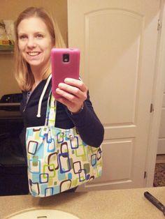 Me and my homemade purse