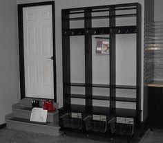 I am so putting this locker system in my garage next to the door (garage mud room)