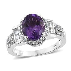 Amethyst Rings, Purple Jewelry, White Topaz, Deep Purple, Calming, Crowns, Fashion Rings, Moroccan, Sparkle