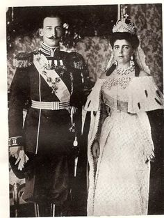 """1902 Prince Nikolaos Greece Denmark, """"Greek Nicky,"""" and Grand Duchess Elena Vladimirovna of Russia, called Princess Nikolaos of Greece married in Tsarskoye Selo, Russia The couple began as a contrasting one, Elena was described as grand and quite regal, while her husband, Nikolaos was noted to be brusque and arrogant. Despite their differences, the couple lived a happy marriage produced three children, the future Princess Marina, Duchess of Kent and the future Princess Olga of Yugoslavia"""