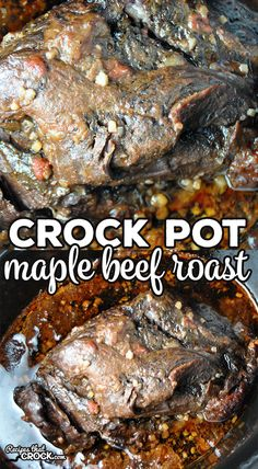Crock Pot Maple Beef Roast - Recipes That Crock! - Easy Weeknight Meals - This Crock Pot Maple Beef Roast is so incredibly simple and delicious! It marinades overnight make it super tender. You are gonna love it! Roast Beef Marinade, Roast Beef Recipes, Healthy Crockpot Recipes, Bbq Roast, Roast Beef Glaze, Crockpot Meals, Crockpot Beef Roast, Bbq Beef, Crock Pot Cooking