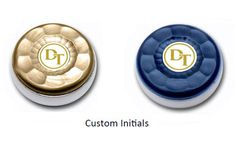 Custom Table Shuffleboard Puck Weights made for a customer with initials