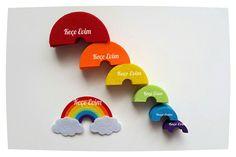 Gökkuşağı magnet-bebek şekeri-nikah şekeri rainbow İnstagram @kece_evim