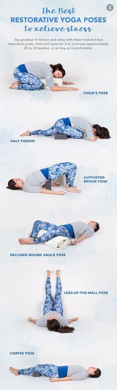 Relaxation is just a few deep breaths away, thanks to these calming yoga poses from @Greatist.