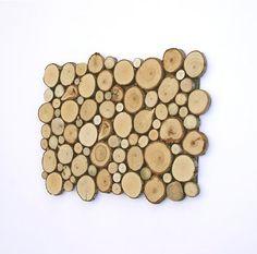 Wood Tree Slice Decorative Wall Art Wooden Rounds Wood Slice on Etsy, $74.00