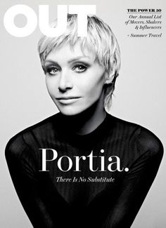 Portia de Rossi - Out Magazine Pictures And Interview Ellen Degeneres And Portia, Ellen And Portia, Portia De Rossi, Out Magazine, Digital Magazine, Magazine Cover Design, Magazine Covers, Editorial Layout, Editorial Design