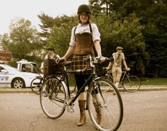Cycling and fashion merge at the Big Apple Tweed bicycle ride
