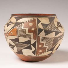 Acoma NM Native American Pottery Olla Vessel | Antique Helper