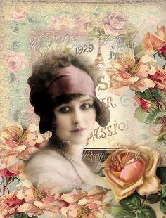 Digital Collage sheet vintage