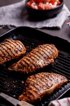 Easy Mexican grilled chicken breasts. Punchy flavour, healthy and quick. What more could you want? #recipe