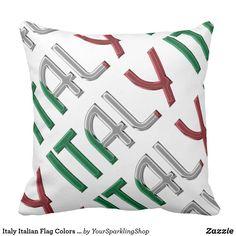 Italy Italian Flag Colors Typography Souvenir
