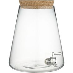 glass beverage dispenser in serving pieces | CB2  [Easy Drinkin']