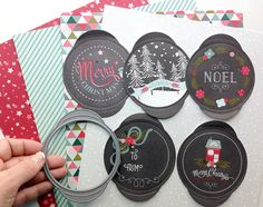 The total retail cost of the Tinsel & Tags Main Kit is $100.  The total retail cost of the Tinsel & Tags Trimmings Kit is $35--The Noel tag was already so beautiful, I didn't want to add much to it. The die that matches with these tags also cuts the slots, so you can slide the ribbon right through! Isn't that gorgeous how it slides onto the ribbon?
