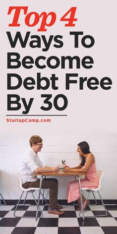 Top 4 Ways To Become Debt Free By 30 Pay off Debt, Student Loan Debt #debt student debt payoff, student loans