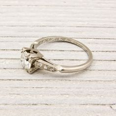 .55 Carat Diamond Solitaire Antique Engagement Ring | Vintage & Antique Engagement Rings | Erstwhile Jewelry Co NY