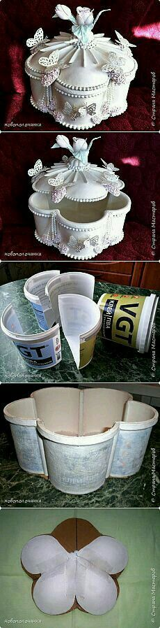 """DIY """"Box is made of plastic bucket and spoons. Only DIY I could get for this. Hobbies And Crafts, Fun Crafts, Diy And Crafts, Arts And Crafts, Paper Crafts, Diy Y Manualidades, Plastic Bottle Crafts, Plastic Bottles, Plastic Spoons"""