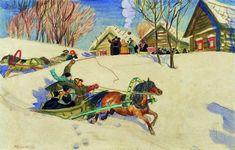 Photo Sale Artwork, Folk Art, Russian Art, Art Database, Painting, Russian Impressionism, Art Nouveau, Art, Purchasing Art