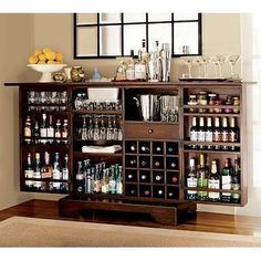 EB73D3BC Bar Shelves, Home Bar Cabinet, Liquor Cabinet, Alcohol Cabinet,  Drinks Cabinet