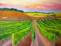 USA (California) by LouisaBryantAcrylics, $235.00