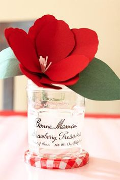Red Baby Shower Inspiration |  Paper flower @Rudy BB