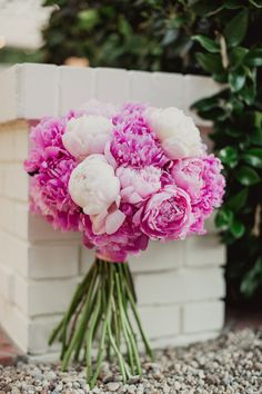 Perfect for a wedding bouquet Floral Wedding, Wedding Bouquets, Wedding Flowers, Bridesmaid Bouquets, Peonies Bouquet, Pink Peonies, Yellow Roses, Our Wedding, Dream Wedding