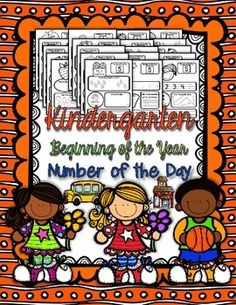Kindergarten Beginning of the Year Number of the Day gives your students a lot of practice working with numbers, representation and relationships. All students need daily practice working with numbers to effectively develop their number sense. This unit introduces number sense from the Kindergarten Common Core Math Curriculum. It works with numbers 1-5 with a variety of skills.