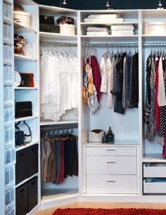 Small White IKEA Pax Closet System For Modern Bedroom Design Ideas - Bedroom closet organizers ikea Master Bedroom Closet, Bedroom Wardrobe, Wardrobe Closet, Diy Bedroom, Wardrobe Storage, Ikea Walk In Wardrobe, Clothes Storage, Perfect Wardrobe, Trendy Bedroom