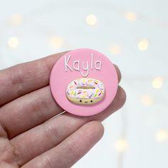 Nurse Name Badge - Donut Nurse Name Badge, Color Glaze, Name Badges, Pink Candy, Colorful Backgrounds, Donuts, Bunny, Handmade, Badges
