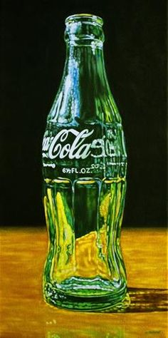 "Daily Paintworks - ""Coke Bottle"" - Original Fine Art for Sale - © Margaret Horvat"