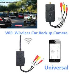 Wireless Car Backup Camera Video Rearview Transmitter Kit Motor Parts Car Camera, Backup Camera, Signal To Noise Ratio, Fj Cruiser, Motor Parts, Rear View, Night Vision, Wifi, Mazda