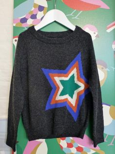 Boys star sweater from an extended range of knitwear at Mini Boden for winter 2014
