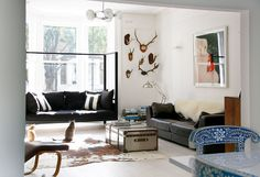 love the antler wall