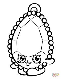 Brenda Brooch Shopkin Coloring Page | Free Printable Coloring Pages