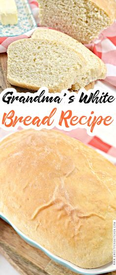 Grandma's Country White Bread Healthy Bread Recipes, Cooking Recipes, Healthy Breads, Healthy Eating, Bread Bun, Easy Bread, Keep Recipe, White Bread, Bread And Pastries