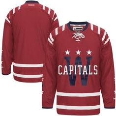 Mens Washington Capitals Reebok Red 2015 Winter Classic Premier Jersey. Want it customized with Joel Ward.