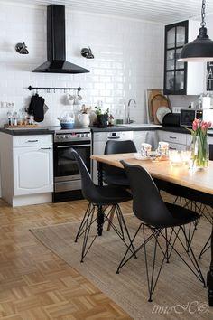 keittiö,remontti,ruokapöytä,inspiroiva koti,ruokatuolit