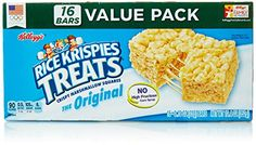 Rice Krispies Treats Bars, The Original, 16 Count >>> Awesome product. Click the image : Groceries Rice Krispie Treats, Rice Krispies, Gourmet Recipes, Snack Recipes, School Snacks For Kids, 16 Bars, Chewy Granola Bars, Cereal Bars, 6 Pack