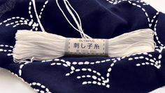 White Sashiko Thread from Olympus Japan AD1002 by QuiltingFoxes, $2.79