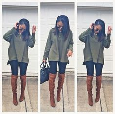 Olive green goes with black and brown? Noted!