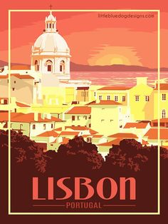 Lisbon Portugal - Vintage Travel Poster PADI Open Water is the most popular diving training course. Poster Retro, Poster Art, Vintage Travel Posters, Poster Prints, Design Poster, Gig Poster, Poster Designs, Art Prints, Portugal Travel