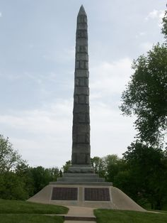 North Alton, Illinois - Confederate Cemetery Monument.
