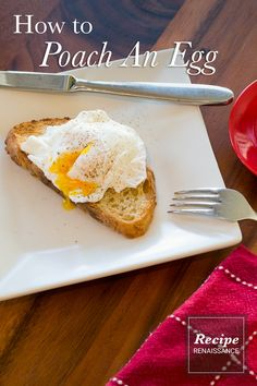 Here's how to poach an egg so it doesn't turn out like egg drop soup. Egg Drop Soup, Vegetarian Paleo, Poached Eggs, Egg Recipes, French Toast, Breakfast, Food, Morning Coffee, Essen