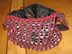 Burgundy Tab purse | I made this purse by crocheting pop tab… | Flickr